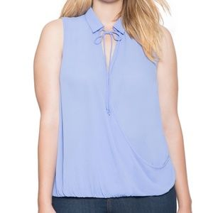 BNWT Eloquii Wrap Front Bow Blouse -22
